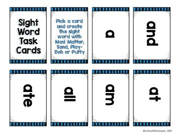 Fundamental Task Cards for Kinetic Sand