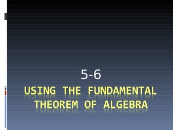 Fundamental Theorem of Algebra