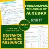 Fundamental Theorem of Algebra 2 Lesson + Worksheet + Answer