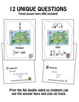 Fundamental Theorem of Calculus Scavenger Hunt