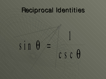 Fundamental Trig Identities