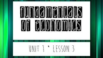 Fundamentals of Economics, Part 3