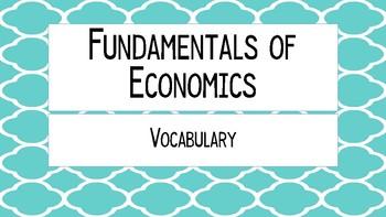 Fundamentals of Economics Vocabulary