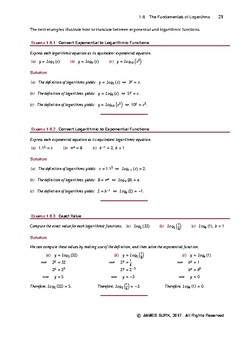 Fundamentals of Logarithmic Equations