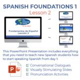 Fundamentos de Español Lección 2