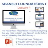 Fundamentos de Español Lección 4