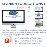 Fundamentos de Español Lección 6
