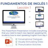 Fundamentos de inglés Lección 1