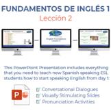 Fundamentos de inglés Lección 2