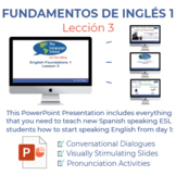 Fundamentos de inglés Lección 3