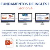 Fundamentos de inglés Lección 4