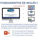 Fundamentos de inglés Lección 5