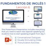 Fundamentos de inglés Lección 6