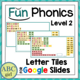 Fun PHONICS Level 2 Distance Learning Letter Tiles for Goo