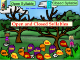 Orton-Gillingham Open and Closed Syllable Activities SMART Board (Dyslexia RTI)