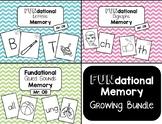 Fundational Phonics Memory - Growing BUNDLE! (Letters / Di