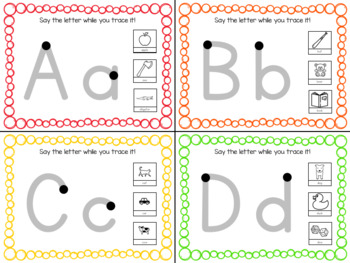 Fundational Phonics Tracing Cards (Letters)