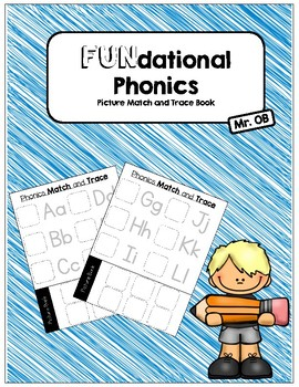 Fundational Picture Match and Trace Activity Book (Letters)
