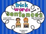 Trick Word Sentences Sight Word Fluency Second Grade
