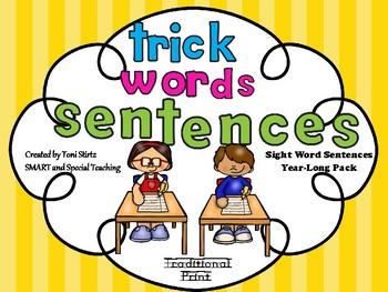 First Grade Sight Word Sentences Level 1 Sight Word Fluency