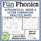 FUN Phonics Alphabetical Order and Letter Formation Practi