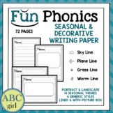 Fundationally FUN PHONICS Seasonal and Decorative Themed  Writing Paper