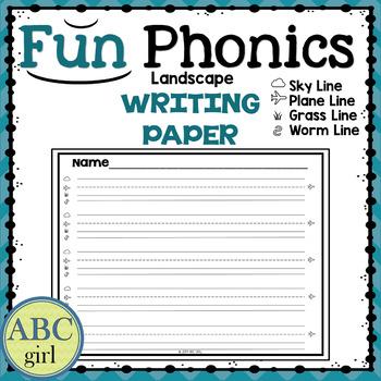 Fundationally FUN PHONICS Writing Paper - Landscape Orientation