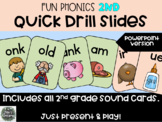 Fun Phonics 2nd Grade Quick Drill SOUND cards - Distance Learning Multi OPTIONS