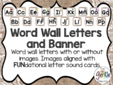 Word Wall Letters and Banner in Burlap - FUNdational Aligned
