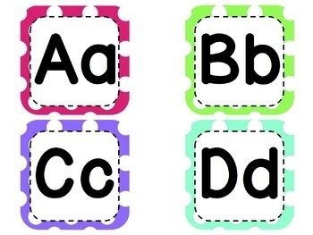 Word Wall Letters and Banner in Polka Dots - FUNdational aligned