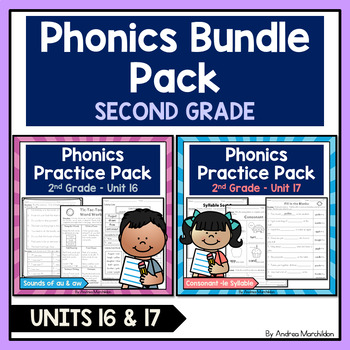 Phonics Printable Bundle Pack - Second Grade Units 16 & 17
