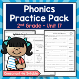 Phonics Printable Pack Second Grade - Unit 17 Consonant -le Syllable