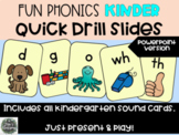 Fun Phonics Kinder Quick Drill SOUND cards - Distance Learning Multi OPTIONS
