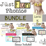 Just FUN Phonics BUNDLE: Level K Unit 1-5 - SEESAW and DIGITAL INCLUDED!