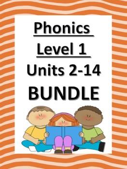 Phonics Level 1 Units 2-14 BUNDLE *updated*