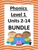 Phonics Level 1 Units 2-14 BUNDLE