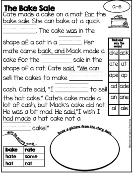 Fundations Level 1 Unit 11  Decodable Stories Silent e or Magic e (RTI)
