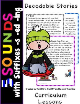 First Grade Decodable Stories  Level 1 Unit 10  5 Sounds & Suffixes -ing -ed -s