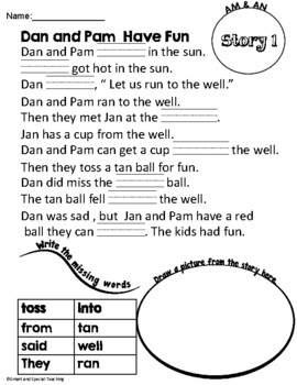 Fundations Level 1 Decodable Stories Unit 5 and Unit 6 -glued sounds and plurals