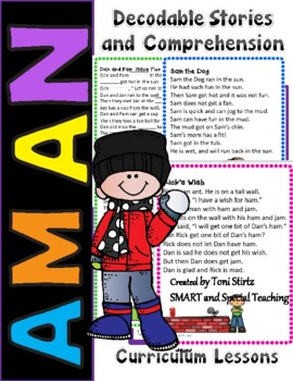 -am & -an  Decodable Stories Unit 5 and Unit 6 RTI/Dyslexia