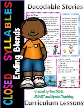 First Grade Decodable Stories Level 1 Unit 9  Closed Syllables with short vowels