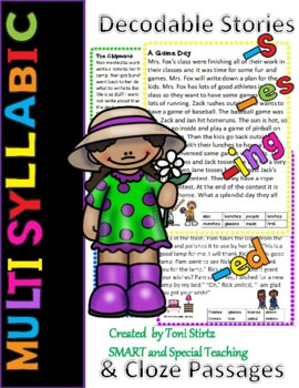 Multi- syllable Decodable Stories Level 1 Units 13 and 14