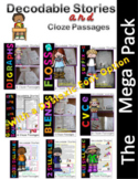 Orton-Gilligham Decodable Stories & Cloze Passages Bundle Level 1  (Dyslexia)
