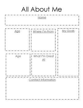 All about me template by msdrewenjoys teachers pay teachers for About me template for students