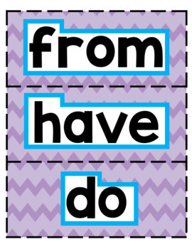 Fundations Level 1 Trick Word Cards
