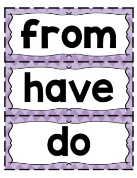 Fun Phonics Level 1 Trick Word Cards