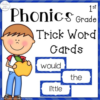 First Grade Trick/Sight Word Cards