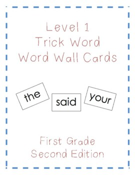 Level 1 Trick Words Word Wall