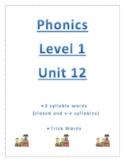 Phonics Level 1 unit 12 Resource-2 syllable words