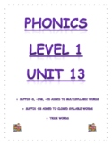 Phonics Level 1 unit 13 Resource: suffix -s, -ing, -ed and trick words